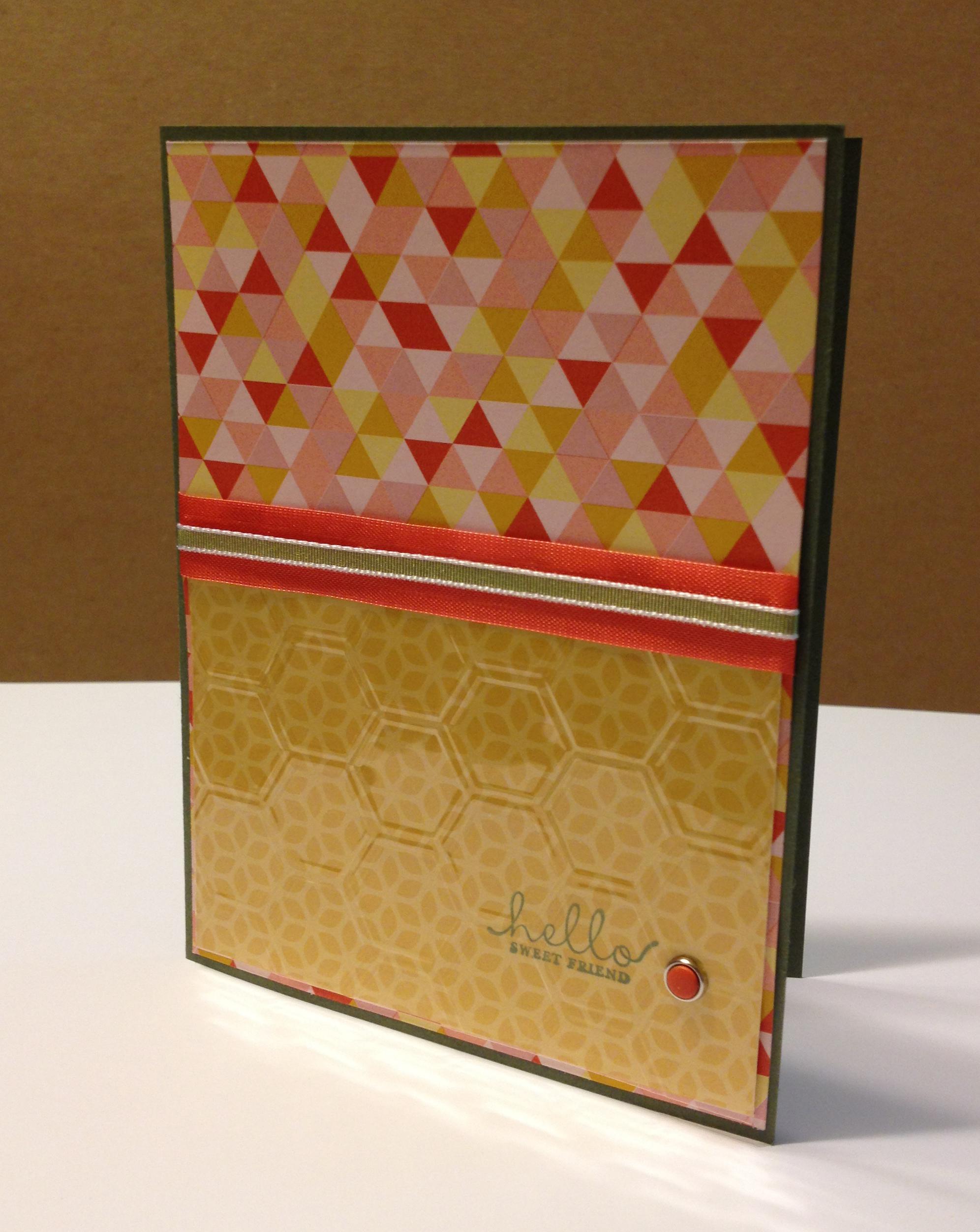Kitty's bee BD card - hello sweet friend version