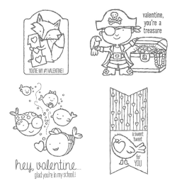 Hey, Valentine stamp set